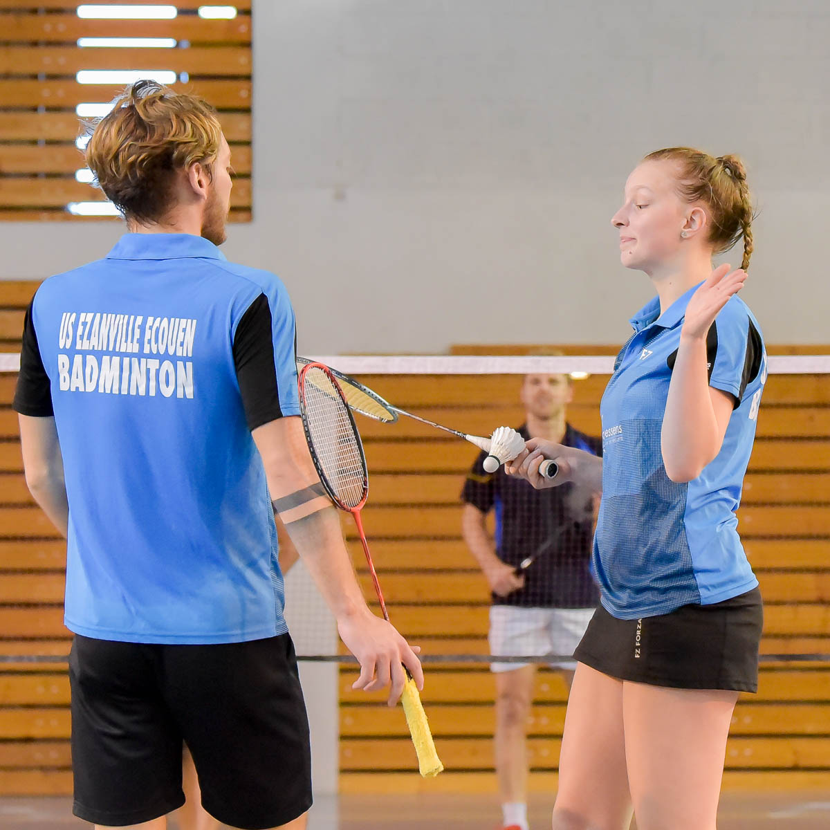 Delphine Delrue Interclub N1 USEE Badminton Equipe1 Saison 2017 18 1200