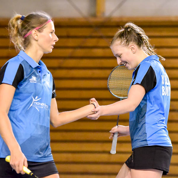 Delphine Delrue Et Victoria Slobodyanyuk USEE Badminton Equipe1 Saison 2017 18