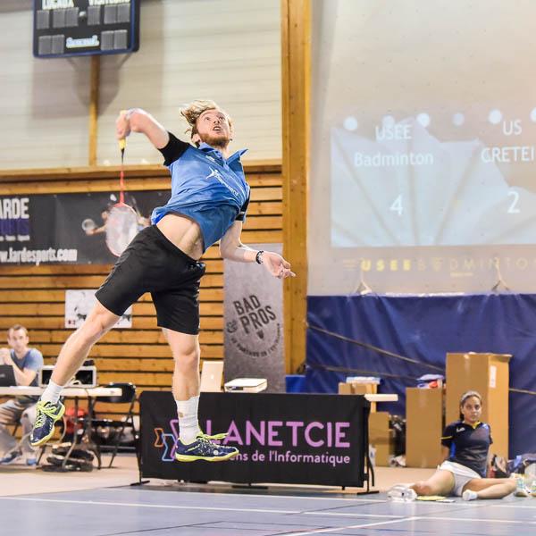 Tanguy Citron USEE Badminton Equipe1 Saison 2017 18