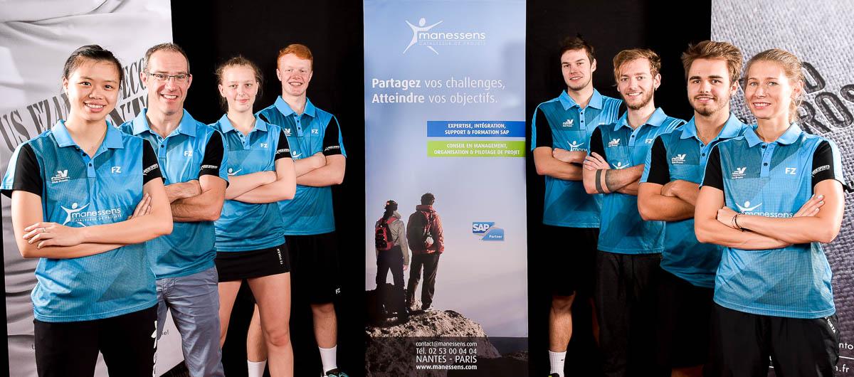 USEE Badminton Equipe1 Saison 2017 18 Partenaire Manessens