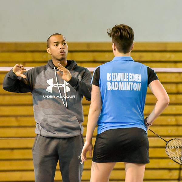 Usee Badminton Nationale1 10 avec Lauren Meheust et Fabrice Bernabe